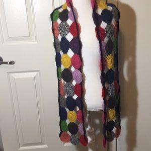 Lucky Brand Accessories - Lucky Brand Boho Crochet Scarf Multicolored